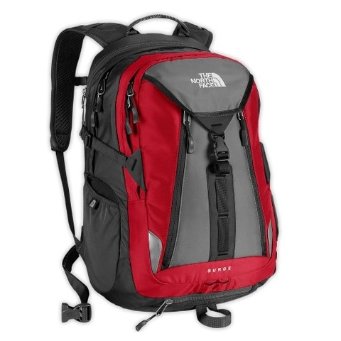 The North Face Surge Backpack Red