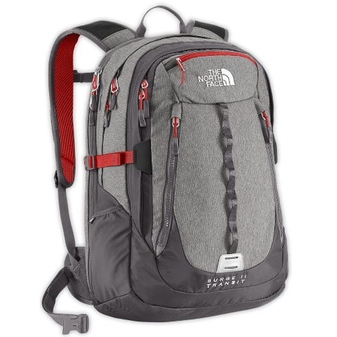 The North Face Surge II Transit Backpack Grey Heat