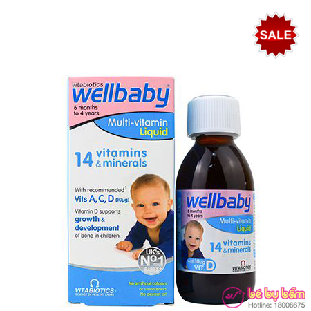 Vitamin tổng hợp Wellbaby Multivitamin Liquid