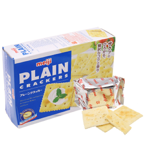Bánh Plain Cracker Meiji-Singapore (104g)'