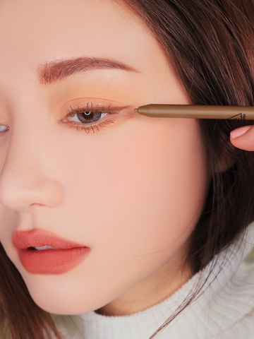 3CE SUPER SLIM WATERPROOF EYE LINER #LIGHT BROWN