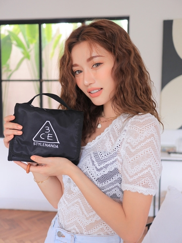 3CE WASH BAG_SMALL #BLACK