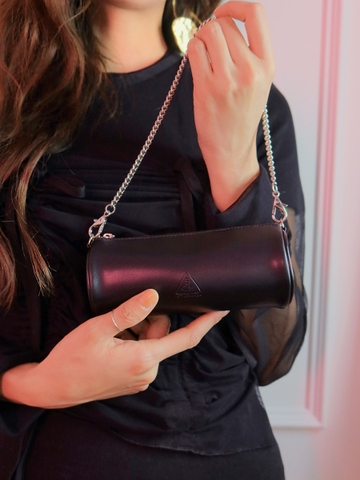 3CE MINI CHAIN LIP BAG #BLACK