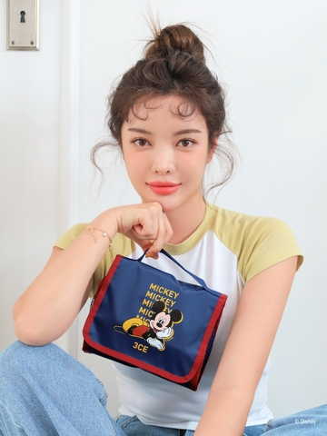 [3CE | Disney] 3CE WASH BAG_SMALL #BLUE