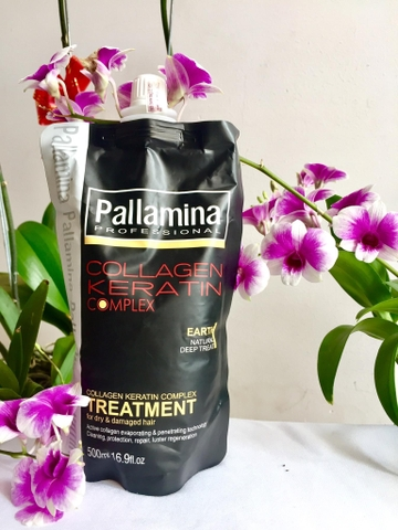 Hấp túi Pallamina Collagen Keratin 500ml