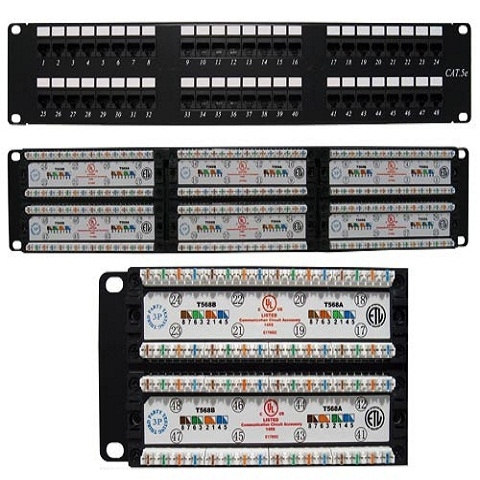 PATCH PANEL CAT5E AMP 48 PORT