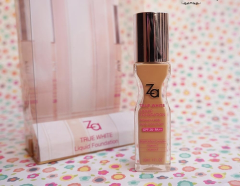 Kem nền ZA TRUE WHITE PLUS LIQUID FOUNDATION