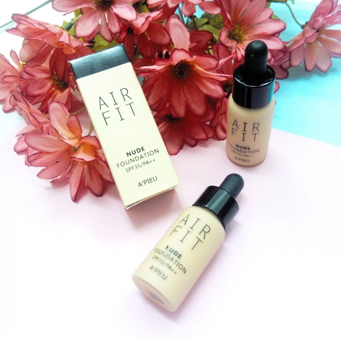 KEM NỀN A'PIEU AIR FIT NUDE FOUNDATION SPF35 PA++