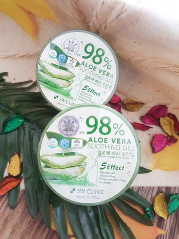 GEL LÔ HỘI 3W CLINIC 98% ALOE VERA SOOTHING GEL
