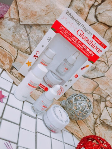 Bộ Dưỡng Da Angel's Liquid Whitening Program Glutathione Special Kit (3 pcs)