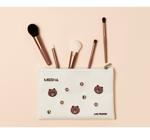 Bộ Cọ Missha Line Friends Artistool To Go Kit 5 Cây