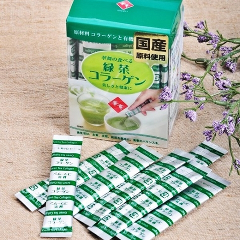 Trà Xanh Hanamai Collagen Tea Japan