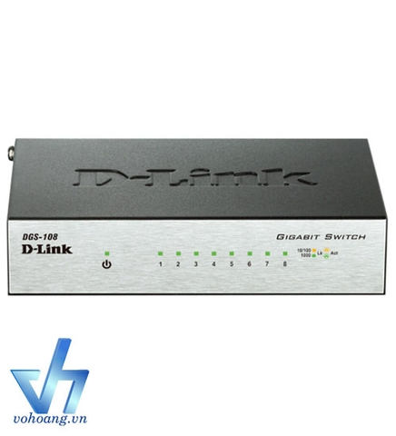 Switch D-Link DGS -108 8-Port chuẩn 1Gbps