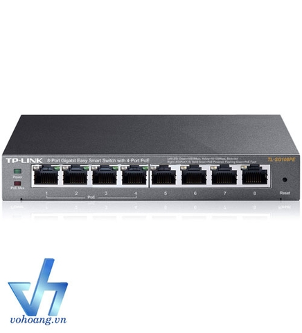 TP-LINK TL-SG108PE - Switch Easy Smart 8 cổng Gigabit + 4 cổng PoE