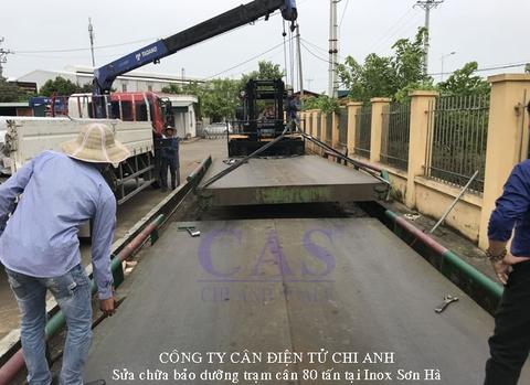 Dịch vụ sửa chữa trạm cân điện tử xe tải 80Tấn - Cân Chi Anh