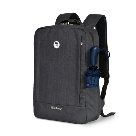 Balo Laptop Mikkor Jeffrey i14 - Graphite