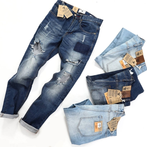 M.N.G - DESTROYED SLIM FIT JEAN - QB106
