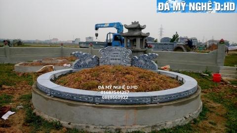 mẫu mộ tổ tròn  bằng đá