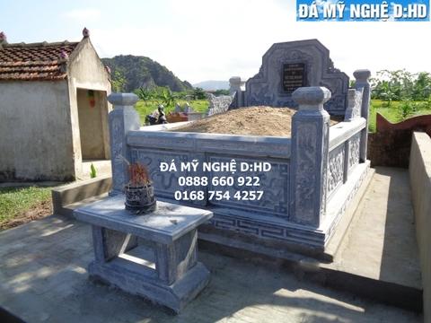 Mẫu mộ tổ bằng đá xanh