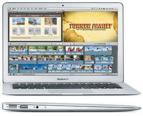MacBook Air Late 2010 - MC503LL/A* - MacBookAir3,2 - A1369 - / 128Gb SSD / Ram 2Gb / New 95%