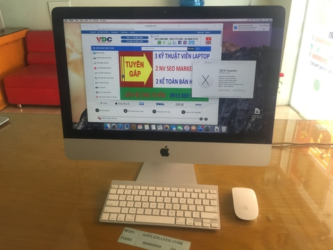 IMAC MD093LL-A CPU I5 RAM 8GB HDD 1024GB LIKE NEW 98%