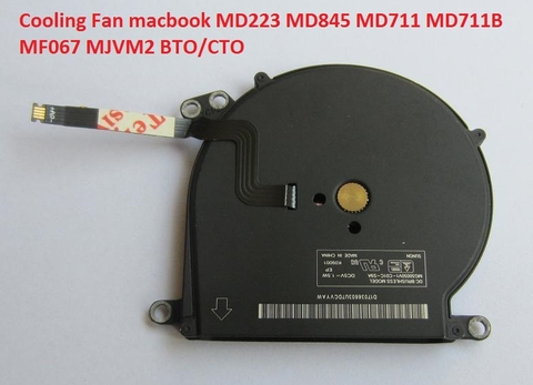 CPU Cooling Fan Cooler MacBook Air 11 A1465 2012 2013 2014 2015 MD223 MD845 MD711 MD711B MF067 MJVM2 BTO/CTO
