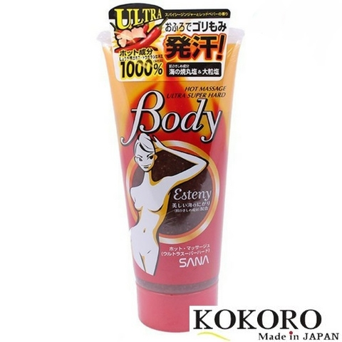 Gel Massage Tan Mở Bụng Esteny Hot Massage Hard Body Nhật Bản
