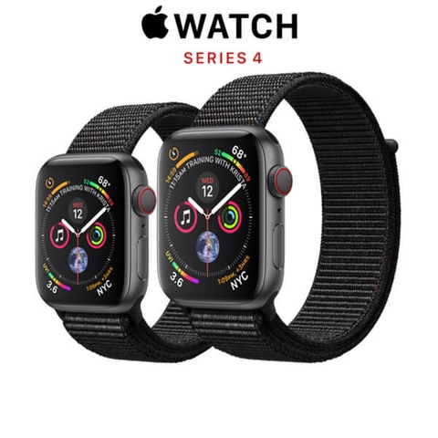 Apple Watch Series 4 (GPS + CELLULAR) Space Gray Aluminum Case with Black Sport Loop