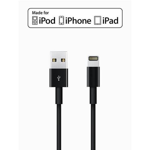 Apple Lightning to USB Cable (1m) Black - Chính Hãng
