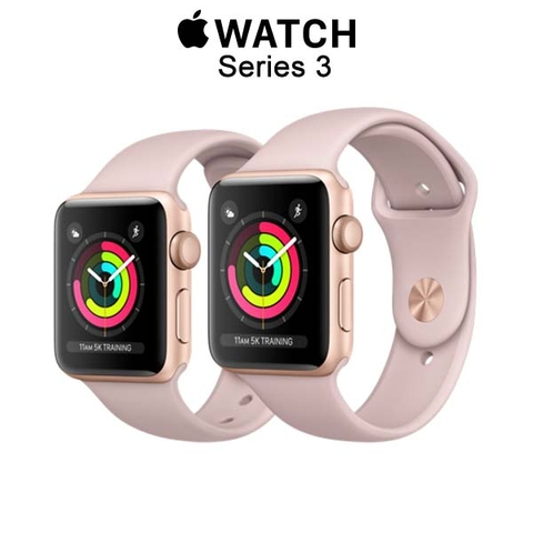 Apple Watch Series 3 GPS Gold Aluminum - Pink Sand Sport Band