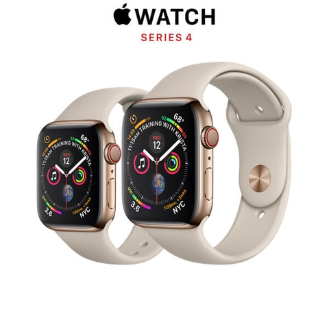 Apple Watch Series 4 (GPS + CELLULAR) Gold Stainless Steel Case with Stone Sport Band