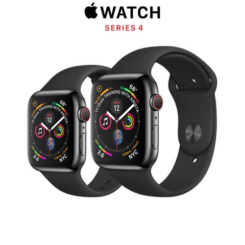 Apple Watch Series 4 (GPS + CELLULAR) Space Black Stainless Steel Case with Black Sport Band