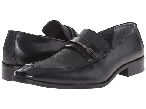 Giày nam Calvin Klein Gallard Black Textured Leather