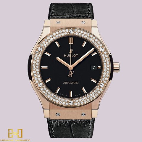 Đồng Hồ Hublot Classic Fusion King Gold Diamonds