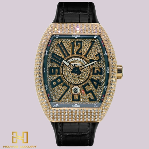 Franck Muller Vanguard Rose Gold Full Diamonds