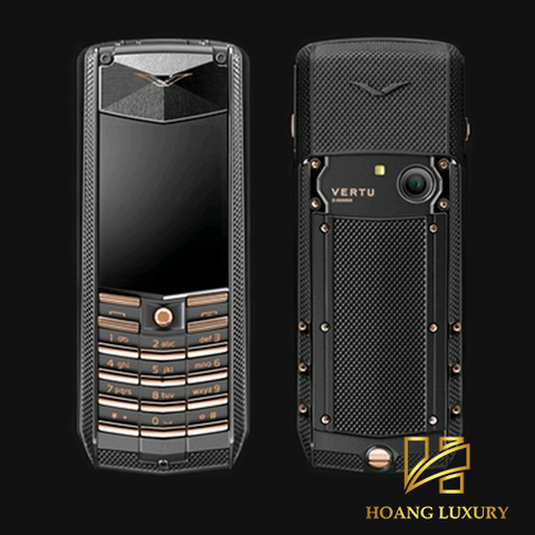 Vertu Acsent Black Knurl Red Gold Mixed Metals