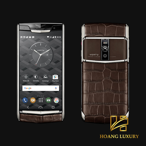 Vertu New Signature Touch Cocoa Alligator mới 100%