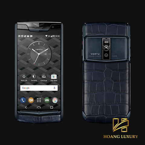 Vertu New Signature Touch Pure Navy Alligator mới 100%