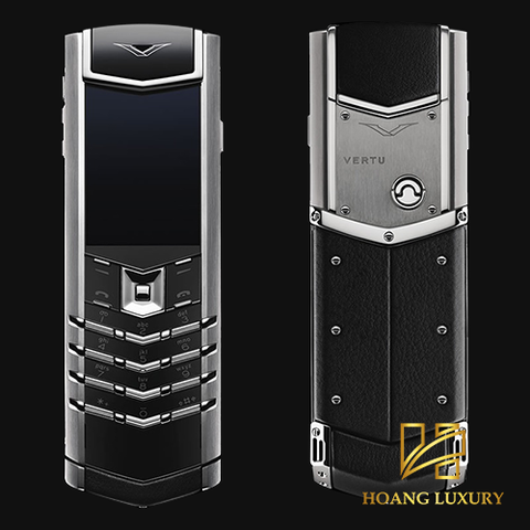 Vertu Signature S Stainless Steel Black Leather dùng lướt
