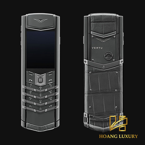 Vertu Signature S Zirconium Alligator mới 100%