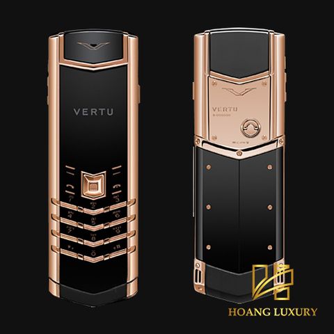 Vertu Signature S Design Clous de Paris RoseGold