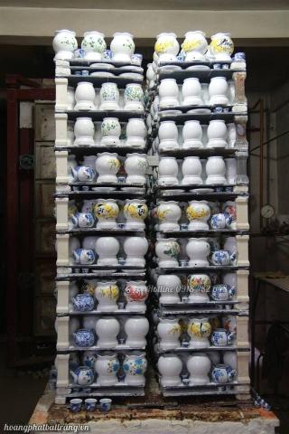 Lò đèn xông tinh dầu, xưởng gốm sứ Hoàng Phát Bát Tràng