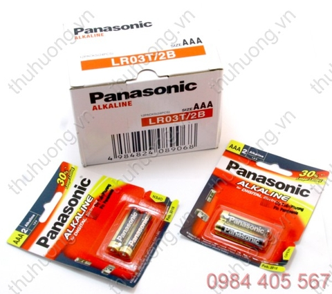 Pin đũa AAA vỉ - PANASONIC AM4-LR03(T/2B)