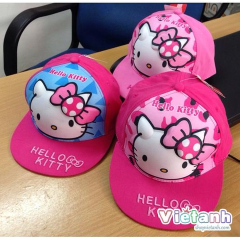 MH 56 Mũ hiphop Hello Kitty