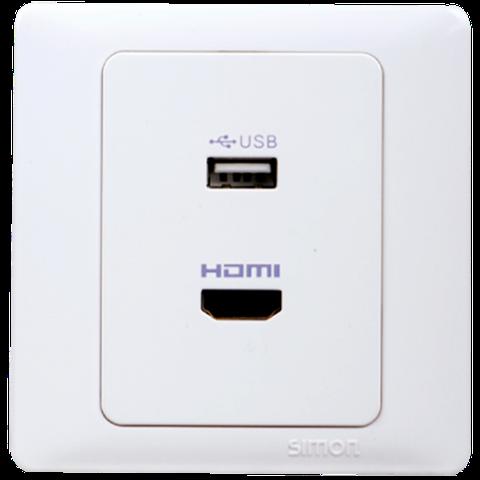 Ổ cắm HDMI và Ổ cắm USB | Simon Series 50