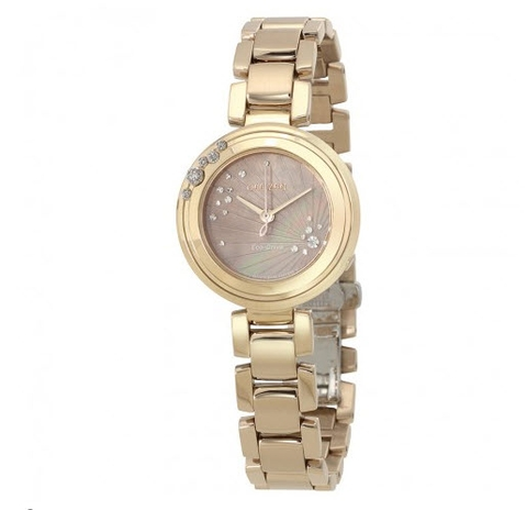 Đồng hồ nữ Citizen Eco-Drive EM0463-51Y Ladies L CARINA Rose Gold-Tone 6-Diamond Watch