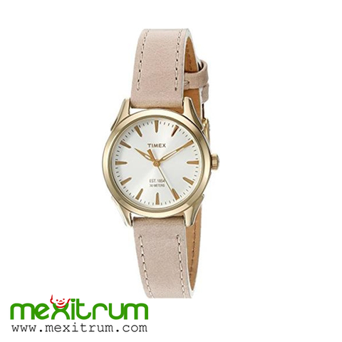 Đồng hồ Timex Women's Chesapeake Quartz Brass and Leather Dress Watch, Color:Brown (Model: TW2P820009J)