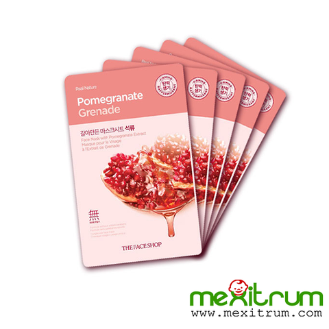 Mặt nạ lựu REAL NATURE POMEGRANATE MASK SHEET