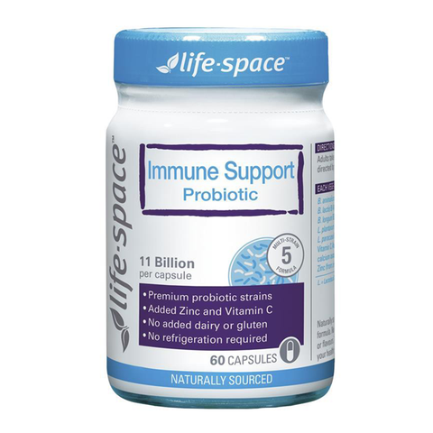 Men vi sinh hỗ trợ hệ miễn dịch Life Space  Immune Support Probiotic 60 Capsules