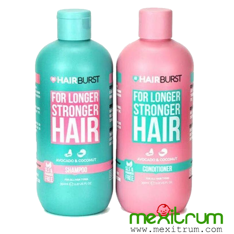 Bộ Dầu Gội Dầu Xả HairBurt For Longer Stronger